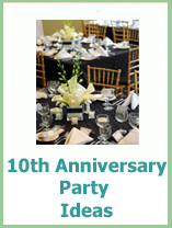 10th anniversary party ideas