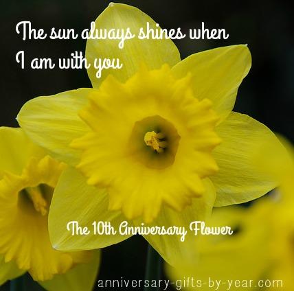 10th anniversary flower
