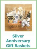 silver anniversary gift baskets