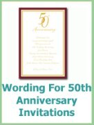 wording for your 50th anniversary invitation