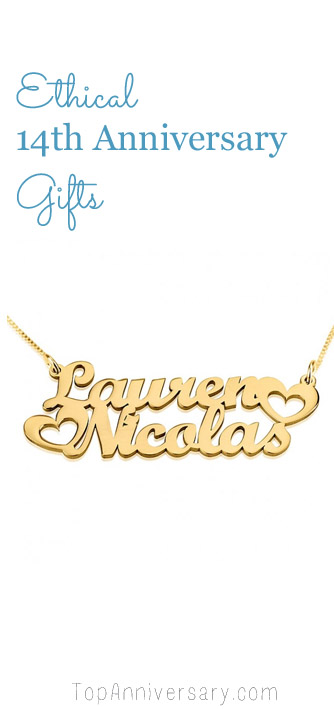 ethical 14 year wedding anniversary gift ideas