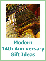 modern 14th anniversary presents