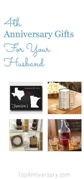 Wedding Anniversary Gifts By Year Traditional And Modern : Lots of 4th wedding anniversary gift ideas for your husband following ...