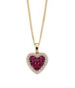 Anniversary Ruby & Diamond Necklace