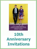 10th anniversary invitations