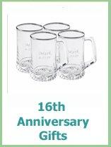 modern 16th anniversary gift ideas