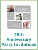 25th anniversary invitation