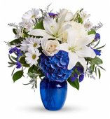 Sapphire 45th Anniversary flowers
