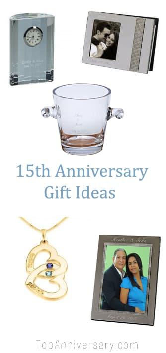 15 year wedding anniversary gift ideas