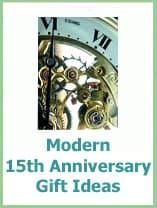modern 15th anniversary gifts