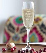 personalized 45th anniversary champagne glasses