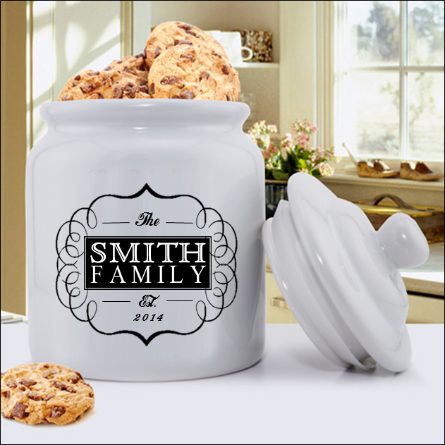 20th Anniversary gift idea - personalized cookie jar