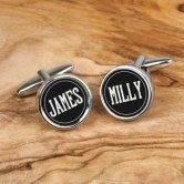 personalized 18th anniversary cufflinks