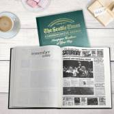 personalized anniversary newspaper book