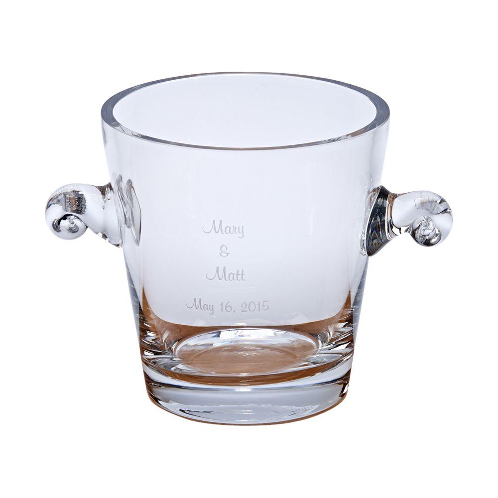 crystal anniversary ice bucket
