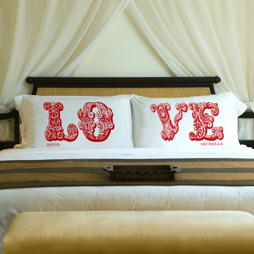 Personalized couple pillows
