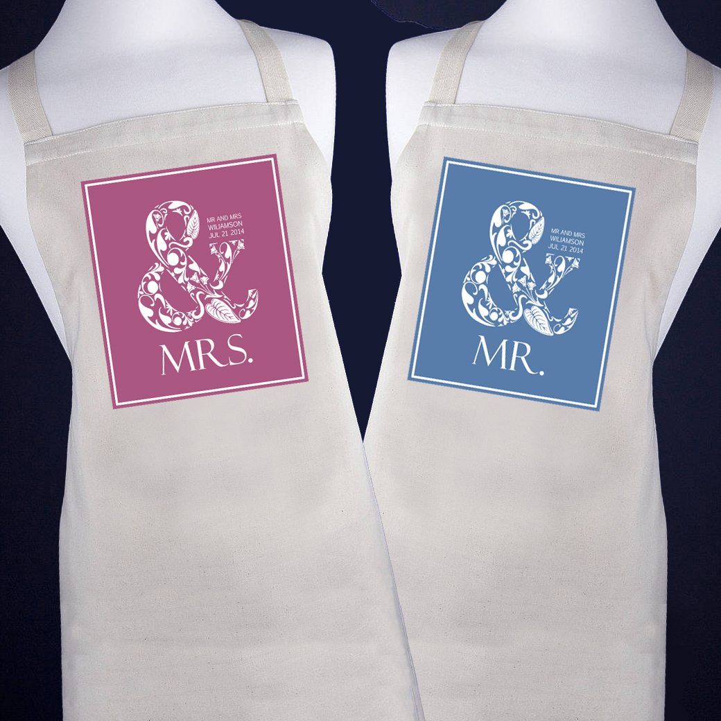 personalized aprons for both of you