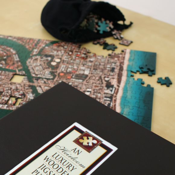 personalized 5th anniversary jigsaw puzzle gift