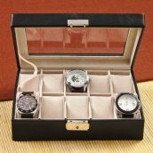 personalized leather anniversary watch box