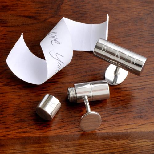 personalized silver anniversary cufflinks