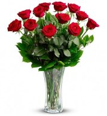 anniversary flowers - dozen red roses