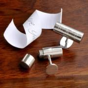personalized silver anniversary cufflinks