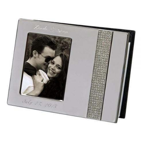 crystal anniversary engraved photo album
