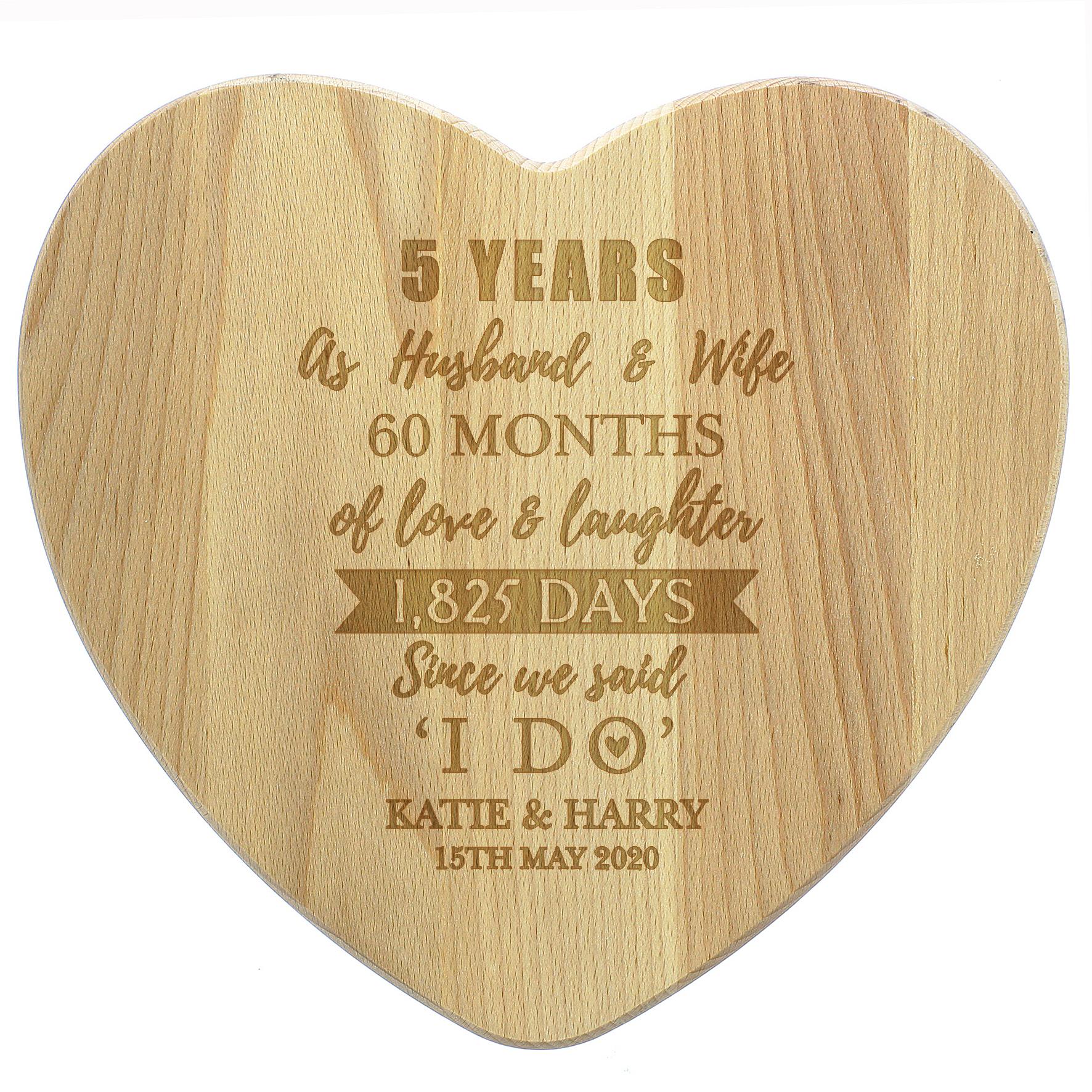 5th anniversary cheeseboard
