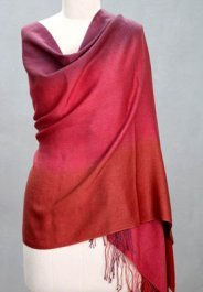 handcrafted silk and wool shawl