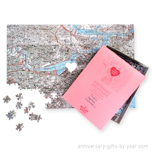 Anniversary gift idea for parents Personalized where we met jigsaw puzzle