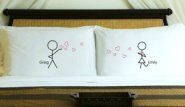 personalized couple's pillow cases