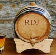 personalized wooden anniversary whisky barrel