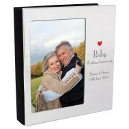 personalized ruby anniversary frame