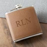Customized leather flask