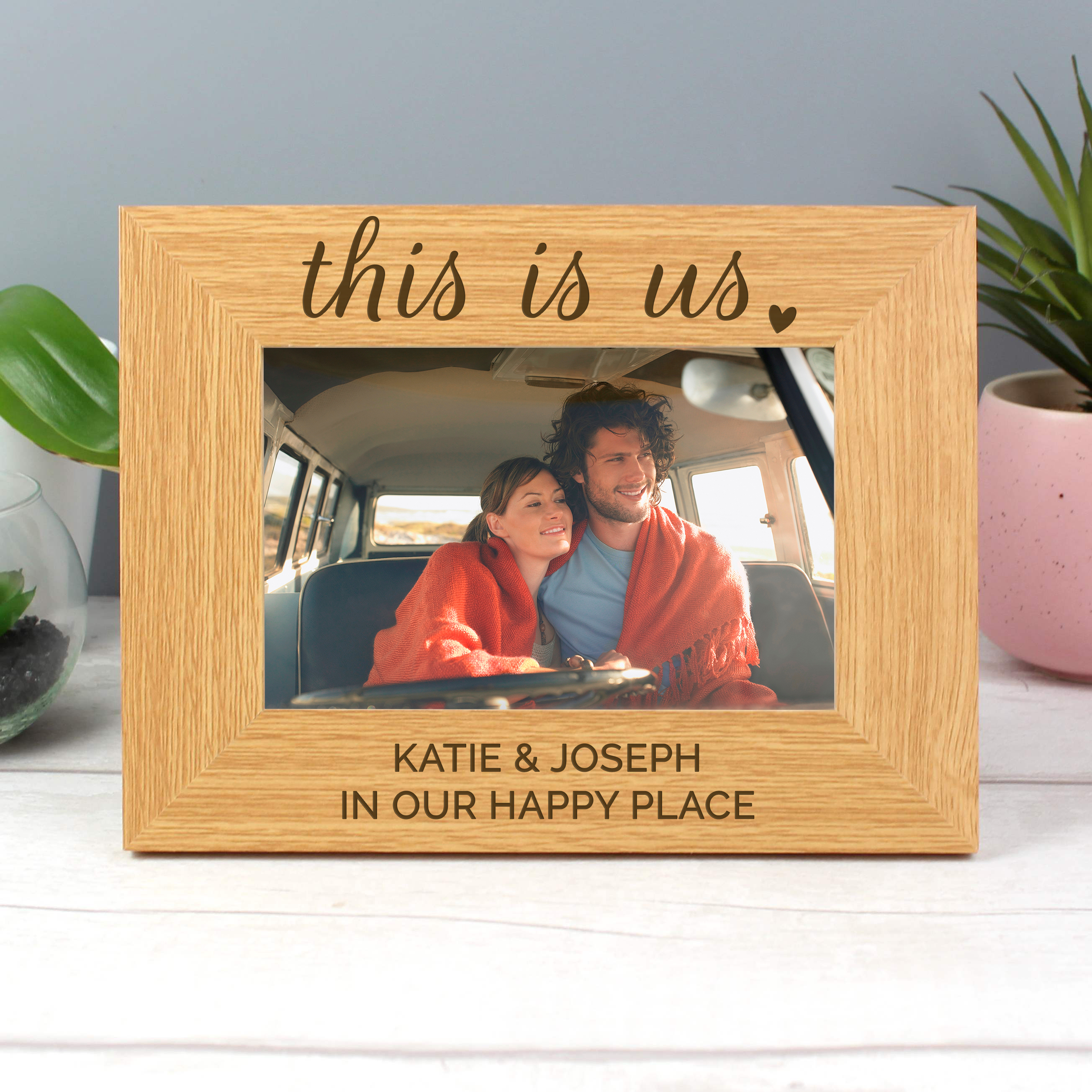 wooden anniversary frame