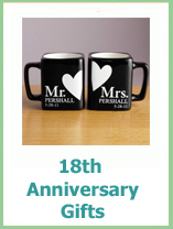 modern 18th anniversary gifts
