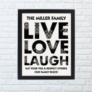 Couples Live Laugh Love Poster
