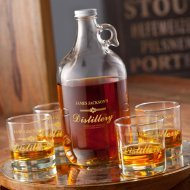 personalized whisky jug
