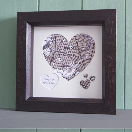 anniversary heart map