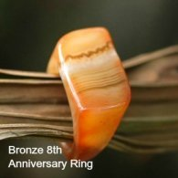 bronze colored agate cocktail ring