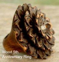lotus design wood ring