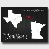 Your Two States Canvas