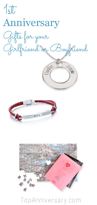 one year anniversary gift ideas for girlfriend or boyfriend