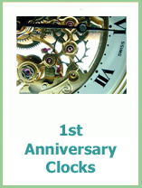 1st anniversary clocks