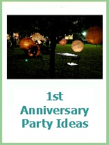 1st anniversary party ideas