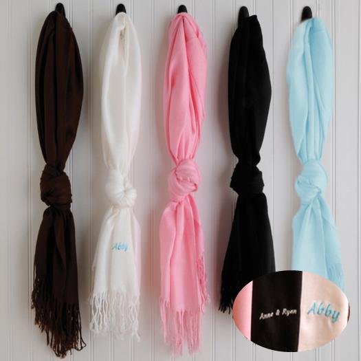 personalized cotton pashminas