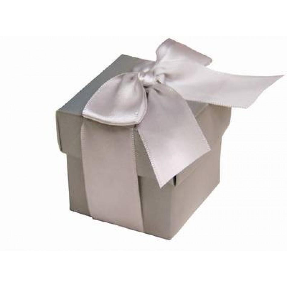 silver favor box