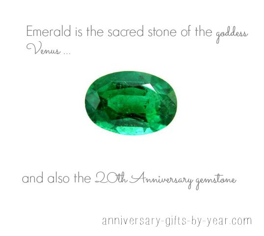 20th anniversary gemstone - Emeralds