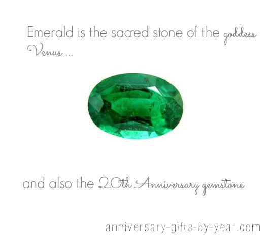 20th anniversary gemstone - Emeralds