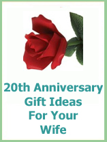 20th anniversary gifts for your wife